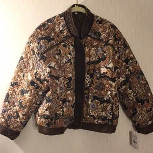 FREE PEOPLE HUNTRESS - quilted bomber jacket.
